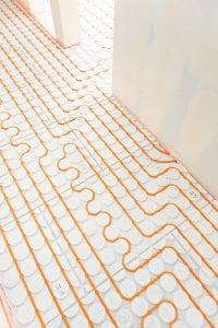 Variokomp vloerverwarming droog systeem - slakkenhuis patroon