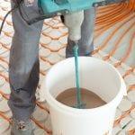 Variokomp vloerverwarming droog systeem - vulmassa maken