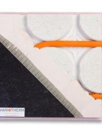 Variotherm Variokomp droogbouw vloerverwarming met houten, stenen, gietvloer, laminaat of pvc vloerafwerking