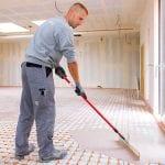 Variotherm droogsysteem vloerverwarming variokomp vulmassa aanbrengen