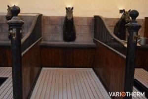 Paardenstal - vloerverwarming op houten vloerconstructie