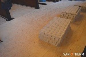 Variotherm Fermacell noppenplaten vloerverwarming
