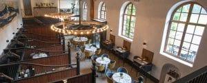 Restaurant met vloerverwarming op houten vloeren