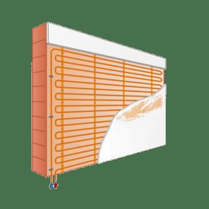 Variotherm wandverwarming voor op stenen muren