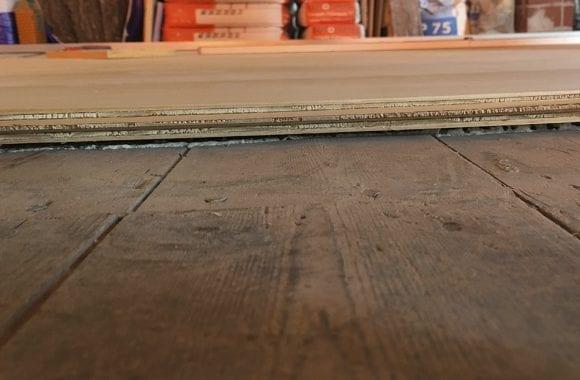 Vloerverwarming op houten underlayment