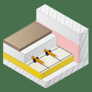 Variotherm krimpnet vloerverwarming / draadstaalmatten