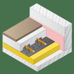 Variotherm noppenplaat vloerverwarming