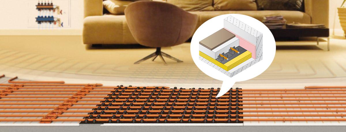 Noppenplaat vloerverwarming