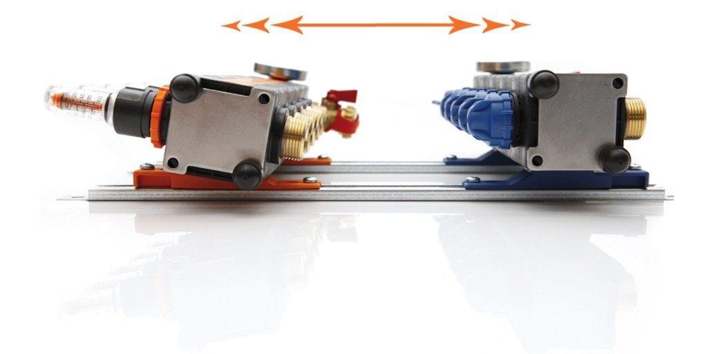 Vloerverwarming verdeler aansluiten inregelen Technea Variotherm