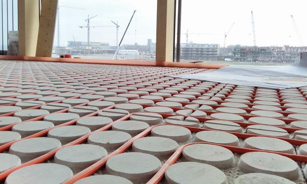 Variokomp Vloerverwarming droog systeem: dunste opbouwhoogte