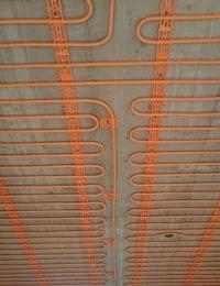 Klimaatplafond koelplafond met leem stuc ecopleister