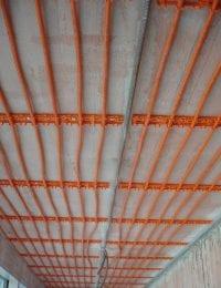 Variotherm Klimaatplafond koelplafond aan steenachtig plafond