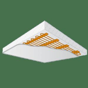 Variotherm Koelplafond klimaatplafond voor op steenachtige ondergrond
