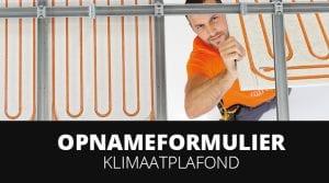 Opnameformulier variotherm klimaatplafonds