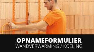 Opnameformulier variotherm wandverwarming