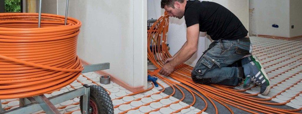 Variokomp droogbouw systeem vloerverwarming